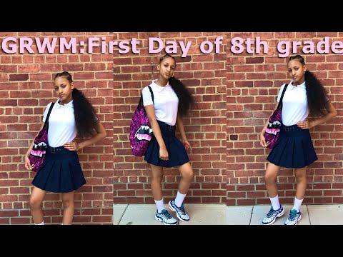 ' GRWM:FIRST DAY OF SCHOOL (8thgrade)😍