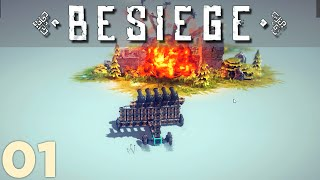 Lets Play Besiege - The Wall of Cannons - Episode 1