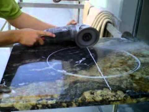David Bro Cutting Granite