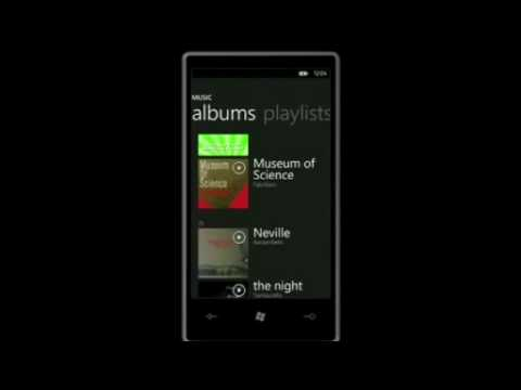 Windows Phone 7 Zune Player