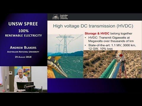 UNSW SPREE 201808-29 Andrew Blakers - 100% renewable electricity