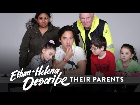 Ethan and Helena Describe Their Parents to Koji the Illustrator | Kids Describe | HiHo Kids