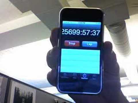 iPhone Timer at 25699 hours
