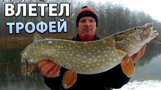 Зимний джиг. Ловля щуки на реке. Рыбалка в оттепель