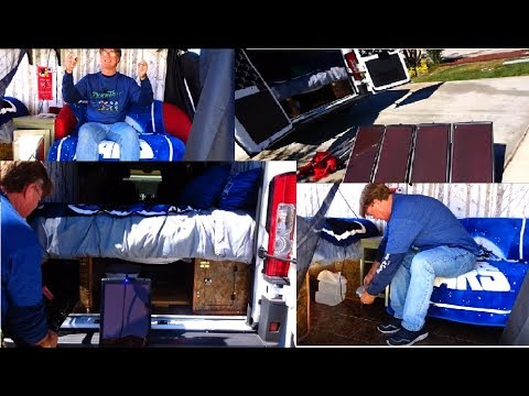 Charging Harbor Freight Tools 100 watt solar system AGM batteries in Ram Promaster camper conversion