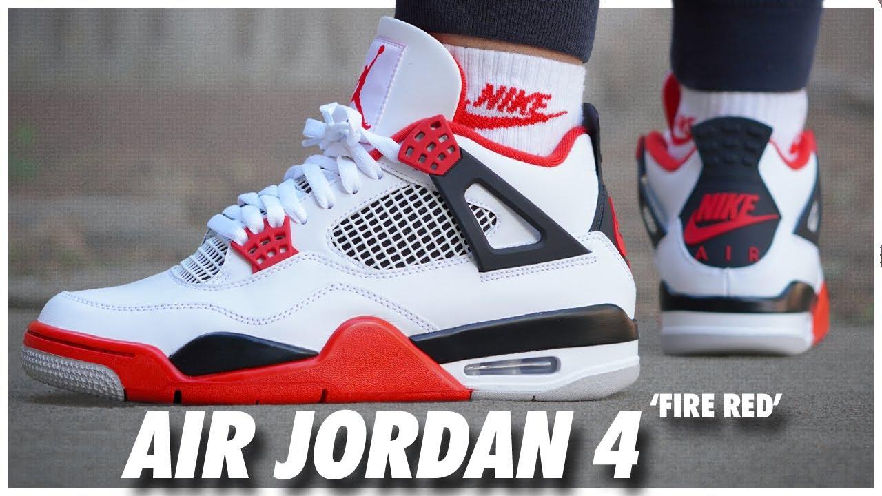 medianoche Elucidación maíz  Air Jordan 4 Fire Red 2020 - YouTube