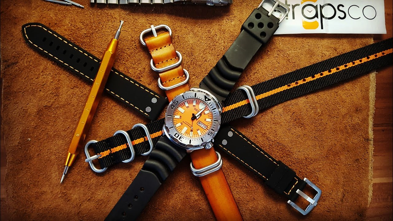 a9d1c96f92f Seiko Monster Strap Options - Change the Look of a Watch with different  Straps - STRAPSCO