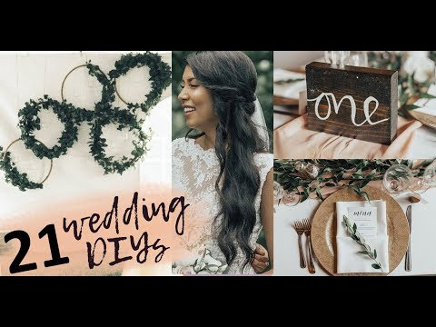 21 Wedding DIYs (2019) | Pinterest inspired DIY wedding decor ideas