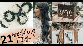 21 Wedding DIYs | Pinterest inspired DIY wedding decor ideas