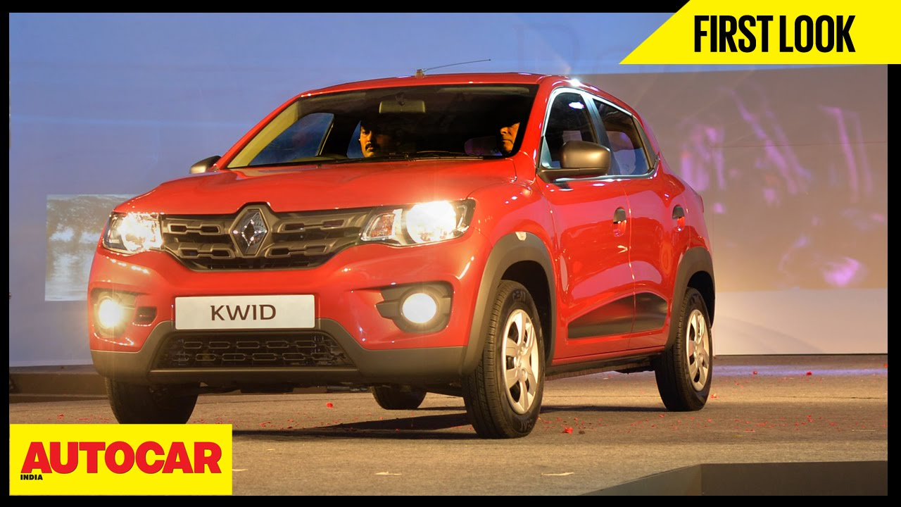 Renault Kwid First Look Video Review Autocar India Youtube