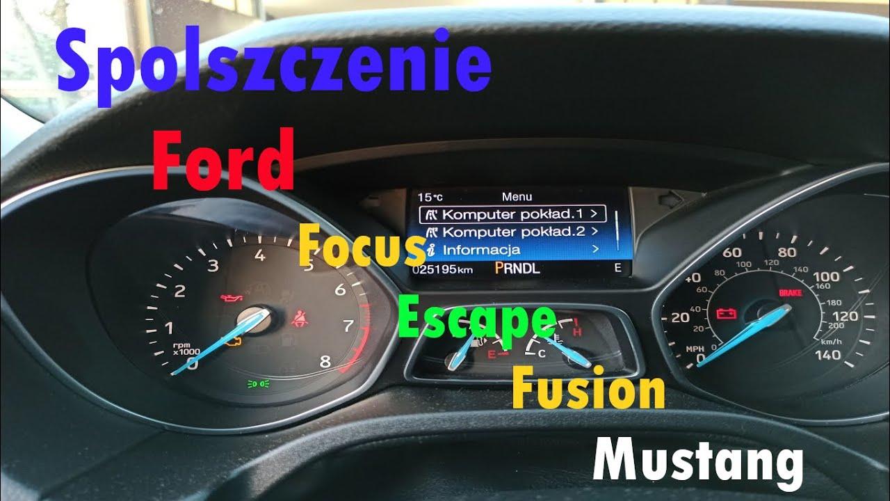 Ford USA SPOLSZCZENIE, Mustang/Fusion/Edge/Focus/Escape