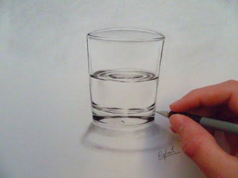 Dessin r aliste verre d 39 eau youtube - Dessin de verre ...