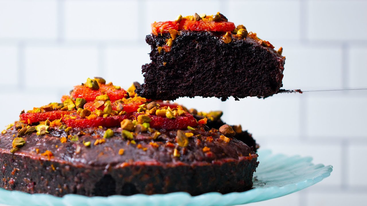 Dairy-Free Blood Orange Chocolate Cake - YouTube