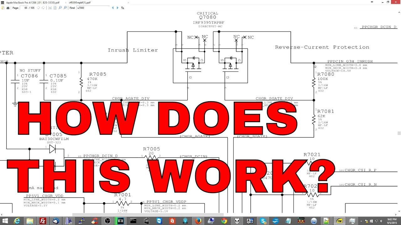 how to troubleshoot charger mosfet on apple laptop motherboard  [ 1280 x 720 Pixel ]