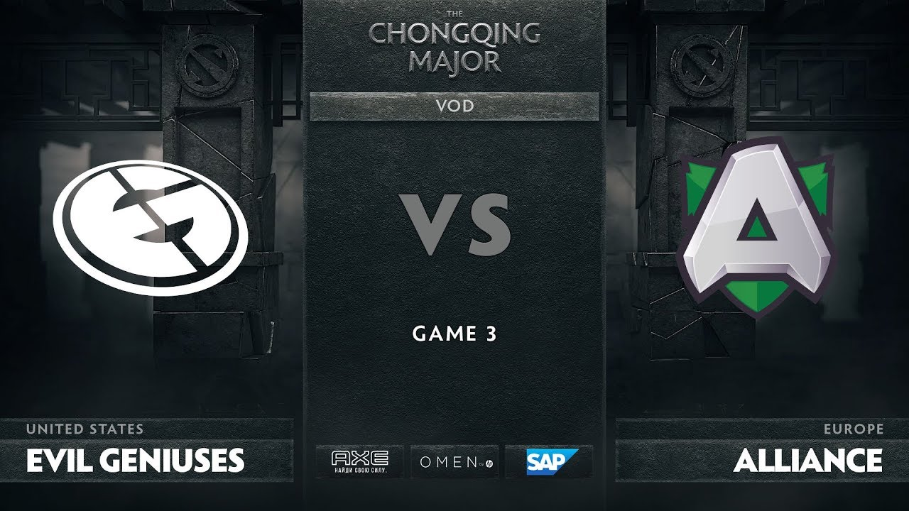 [RU] Evil Geniuses vs Alliance, Game 3, The Chongqing Major Group D