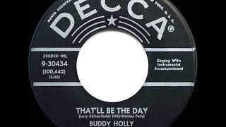 1st RECORDING OF: That'll Be The Day - Buddy Holly & The Three Tunes (1956)