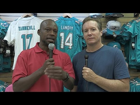 Chris Perkins and Dave Hyde at Dolphins Camp