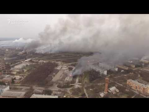 Drone Footage Shows Scale Of Ukraine Fire