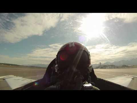 Raw Video of Thunderbird F-16 Flight