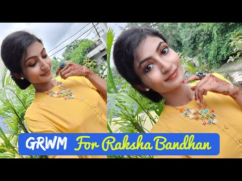 GRWM For Rakhi || Soft Croral Brown Eye Makeup Look || Its makeover tym