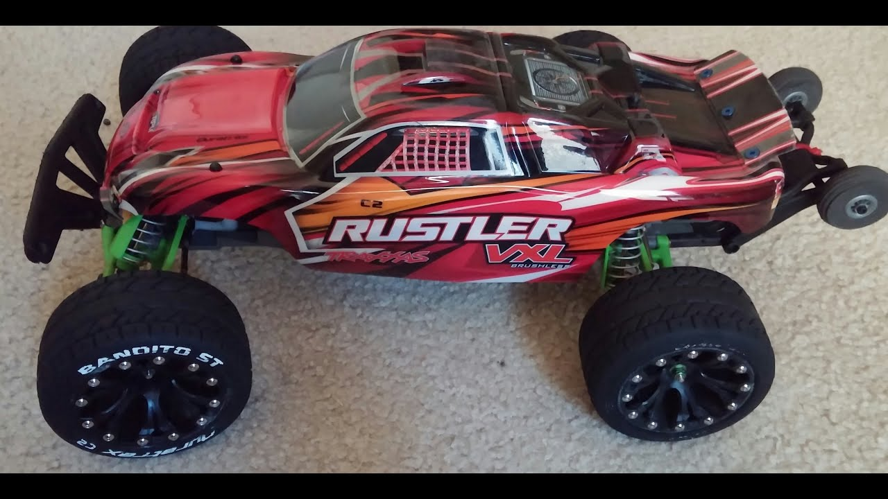 Upgraded Traxxas Rustler vxl quick look