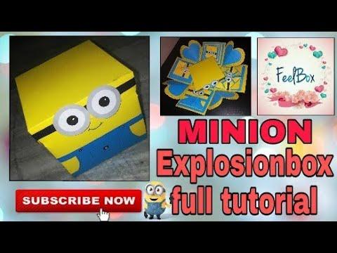 DIY Minion explosionbox tutorial   how to make Minion explosionbox   minion exploding box by FeelBox