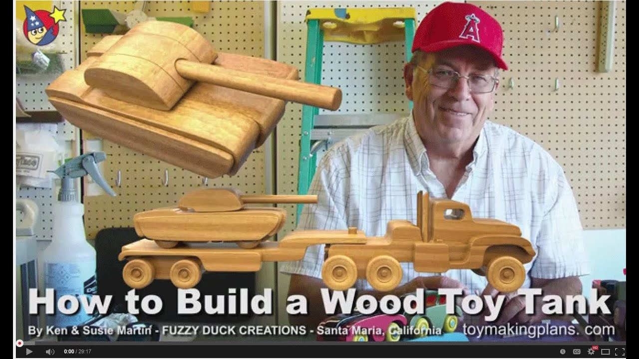 Wood Toy Plans Make A Wood Toy Tank Youtube