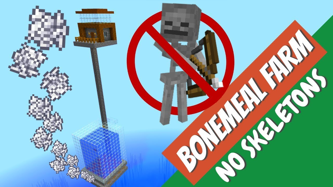 How To Make A Bonemeal Farm In Minecraft Easy Minecraft Fish Farm With Avomance Youtube