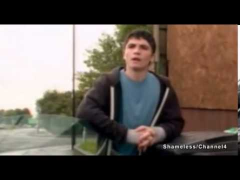 Actor Jody Latham playing Lip Gallagher in Channel 4's Shameless