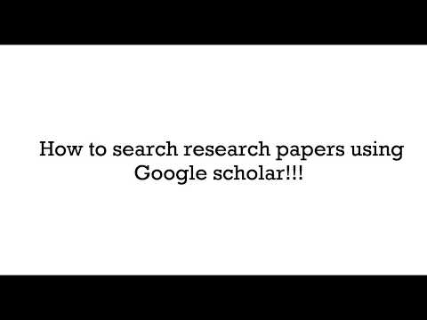 How to search research papers using Google Scholar - Part-1