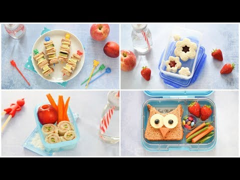 4 Easy Fun Sandwiches For Kids - Fun Food Tutorial