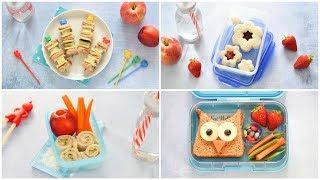 4 Easy Fun Sandwiches for Kids - Fun Food Tutorial