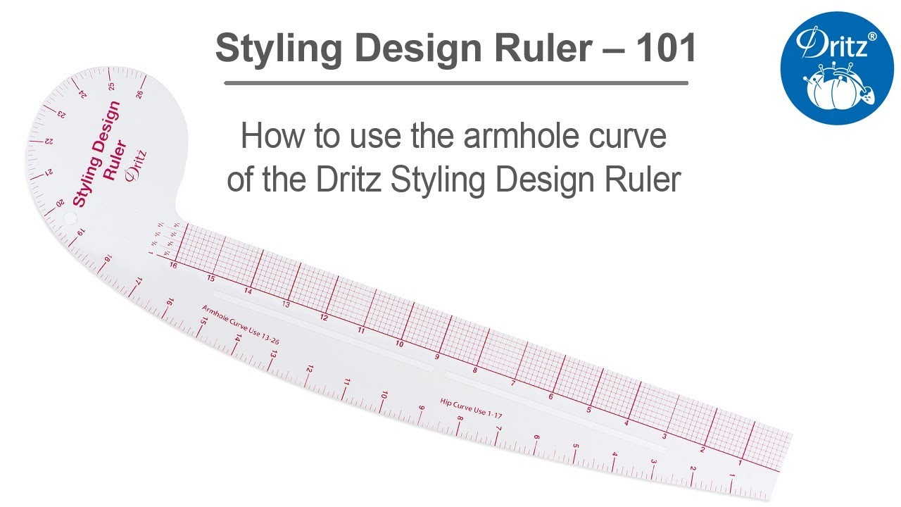 photograph relating to Printable French Curve named Styling Style and design Ruler 101 Sequence How in the direction of seek the services of the armhole curve of the Dritz Styling Structure Ruler