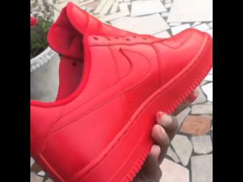 red bottom air force 1
