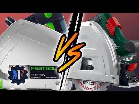 Parkside PTSS 1200 vs Festool TS 55