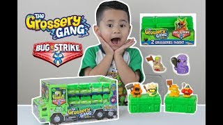 BUG STRIKE THE GROSSERY GANG Series 4 TOY UNBOXING BLIND BOXES, surprise toys