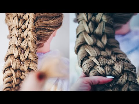 Коса из узлов Простой способ заплести Причёска из косы