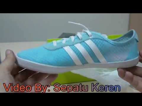 brand new eb437 19970 Unboxing Review sneakers Adidas VS QT Vulc Sea W AQ1469