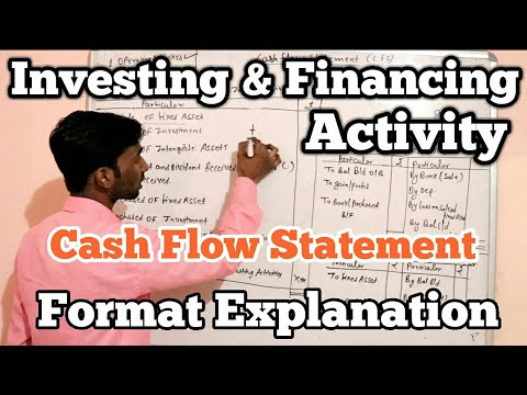 Investing & Financing Activity - Format Explanation || Cash Flow Statement || E Learn by MR