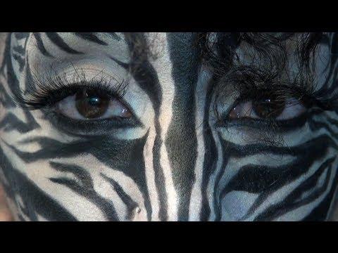 Zebra Transformation Drugstore Makeup Youtube