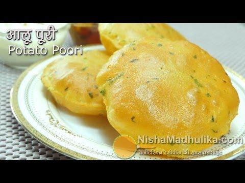 Aloo Puri Recipe - Aloo Puri Recipe In Hindi - Alu ki puri - Potato Poori