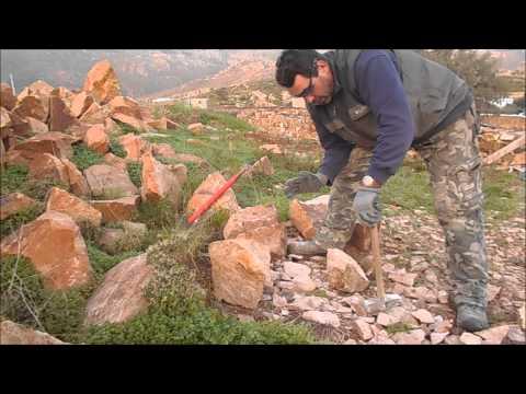 Обработка камня для стены