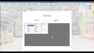 Get the project at http://nevonprojects.com/supermarket-billing-system/ this system demonstrates supermarket billing with inventory handling and b...