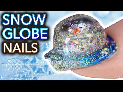 DIY Snowglobe Nails (I built a snowman on my nail)