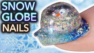 DIY Snowglobe Nails (I built a snowman on my nail) by : Simply Nailogical