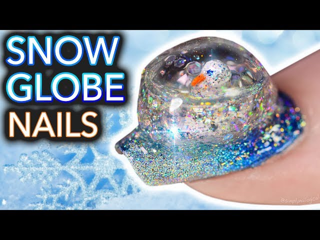 Snow Globe Nails Are A Thing Now, And They Look Weird And Cool At ...