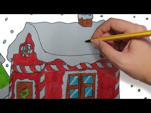 como-dibujar-una-casa-de-navidad-paso-a-paso-facil:-dibujos-de-navidad-para-niños-a-color