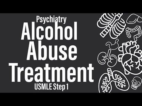 Alcohol Abuse Treatment (Psychiatry) (Pharmacology) – USMLE Step 1