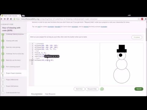 Khan Academy: Hour of Code Project Super Snowman - YouTube