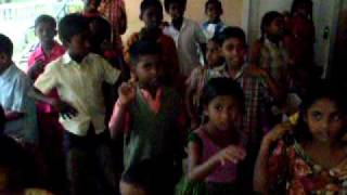 children home -INDIA - singing Christmas song
